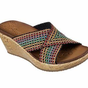 NIB Skechers sandals 8 Beverlee Delighted Rainbow